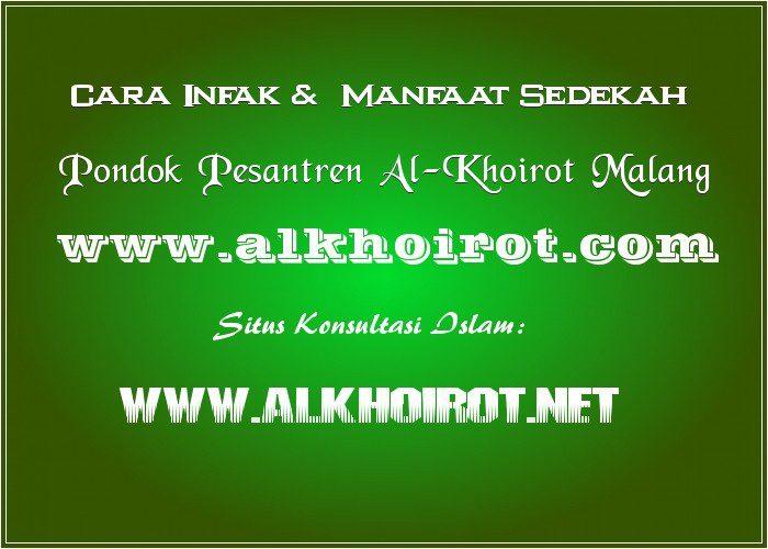 Cara infak sedekah Pesantren Al-Khoirot